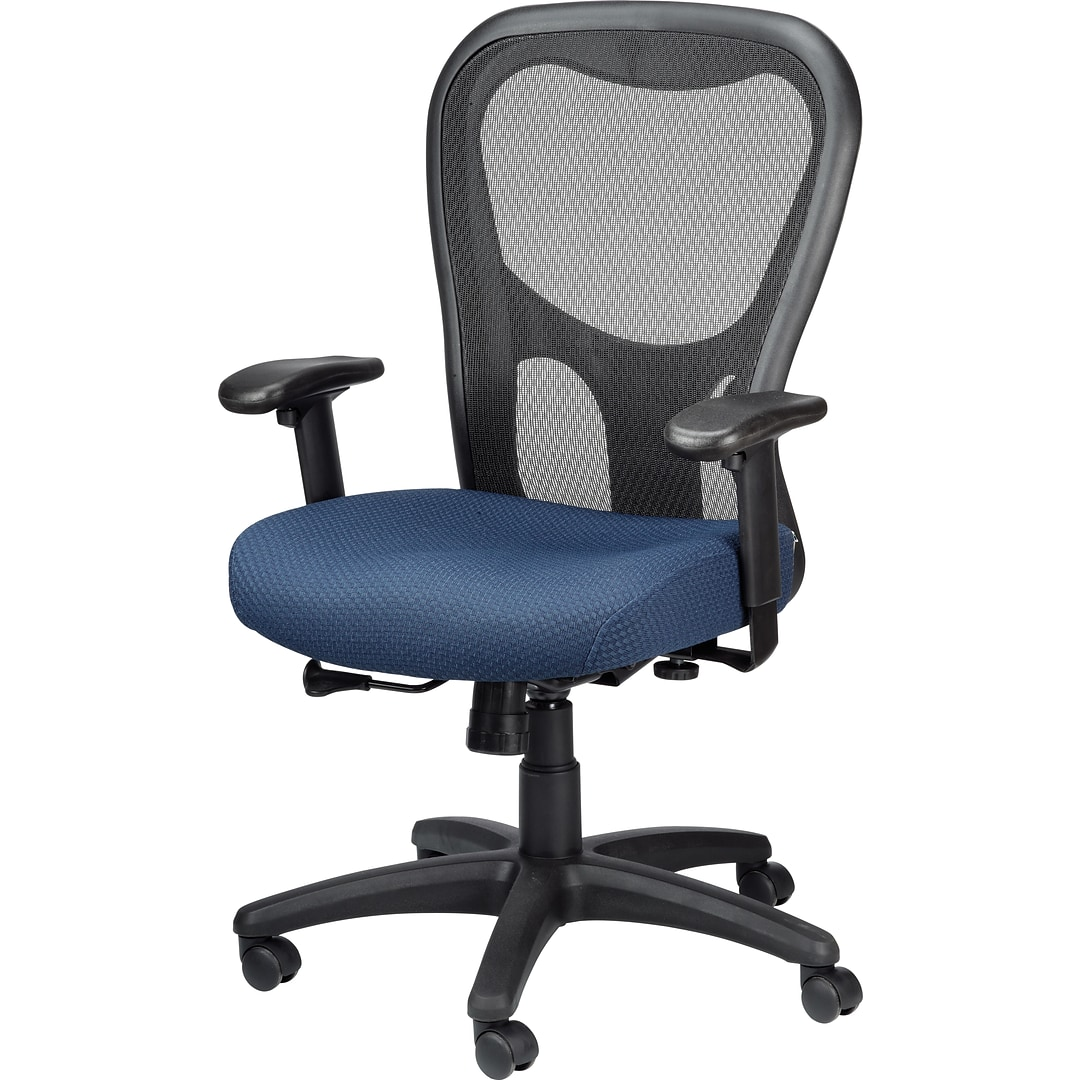 Tempur Pedic Tp9000 Ergonomic Mesh Mid Back Executive Chair Navy Walmart Com Walmart Com