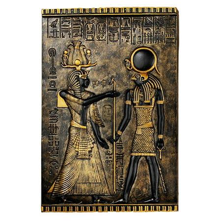 Egyptian Plaque (Egyptian Temple Stele Plaque: Horus)