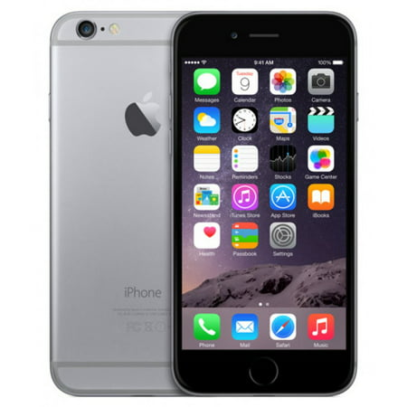 Refurbished Apple iPhone 6 32GB, Space Gray - Locked Straight Talk/TracFone](refurbished iphone 6 32gb)