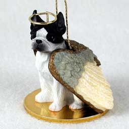 Boston Terrier Dog Ornament - Boston Terrier Angel Dog Ornament, Hand Painted By Conversation Concepts