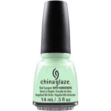 China Glaze Nail Lacquer with Hardeners, re-Fresh Mint, 0.5 fl oz Chinese Porcelain Green Glaze