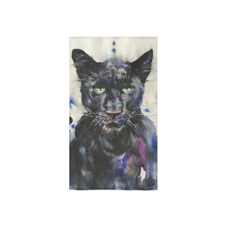 YUSDECOR Watercolour Painting of Panther Bath Towel Hand Towel Shower Towel Washcloth 16x28 inch - image 3 de 3