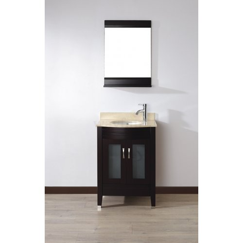 Bauhaus Bath Alfa 24'' Single Bathroom Vanity Set with Mirror