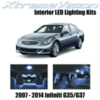 XtremeVision LED for Infiniti G35 G37 Sedan 2007-2014 (11 Pieces) Cool White Premium Interior LED Kit Package + Installation Tool