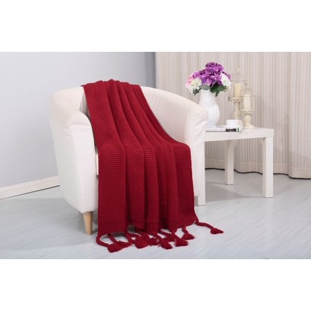 Camilla Knitted Throw Couch Cover Sofa Blanket 50x60