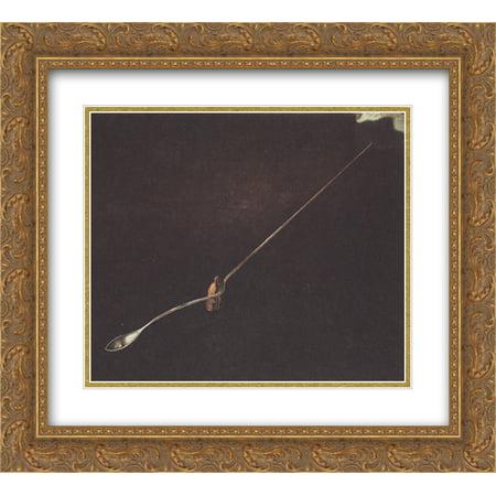 Salvador Dali 2x Matted 24x20 Gold Ornate Framed Art Print Agnostic