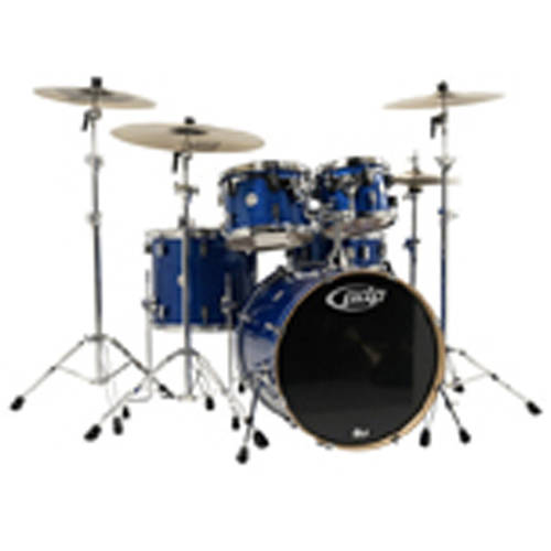 Pacific PDP Concept Maple 5-Piece Shell Pack with Chrome Hardware, Blue Sparkle by Pacific