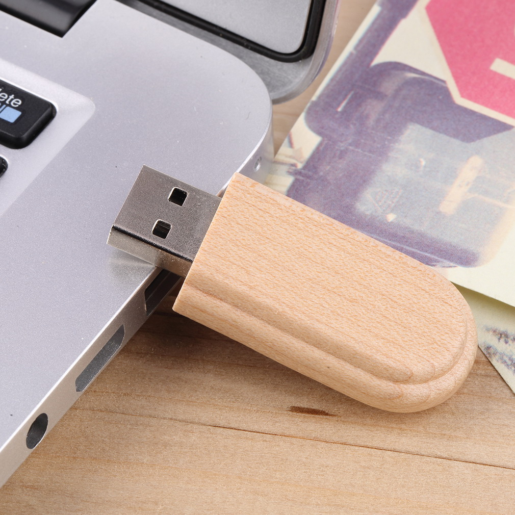 Wooden Box USB 2.0 Flash Memory Stick Pen Thumb Drive U Disk 8GB Burlywood Durable Solid-state Storage No External Power On Sale