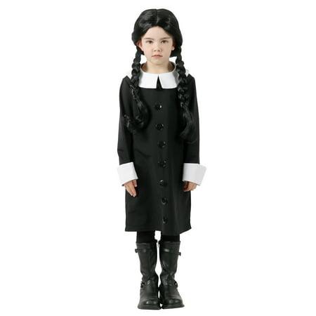 Addams Family Wednesday Addams Costume Kids