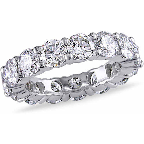 Miabella 5 Carat T.W. Diamond 18kt White Gold Eternity Ring by Delmar Manufacturing LLC