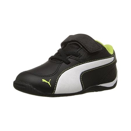 PUMA Boys' Drift Cat 5 L NU V Inf Sneaker, Black White/Limepunch