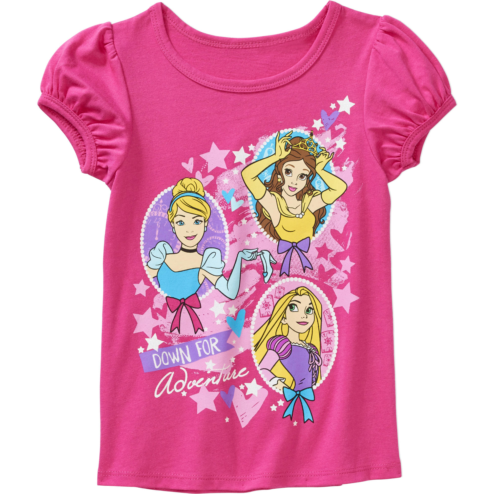 Disney Princess Toddler Girl Short Sleeve Tee