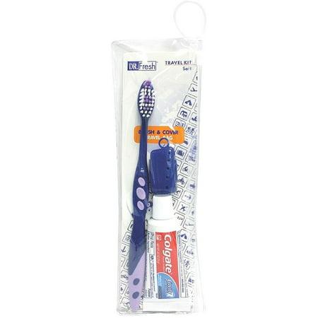 Pocket Travel Toothbrush (Dr. Fresh Toothbrush Travel Kit 1 ea (Pack of)