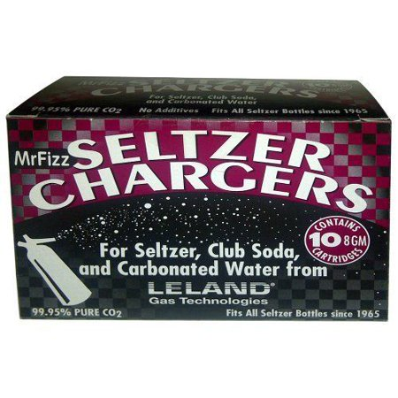 Co2 Cartridges Soda - 100 Leland (LE10 CO2) CO2 soda chargers - 8g C02 seltzer water cartridges - 1...