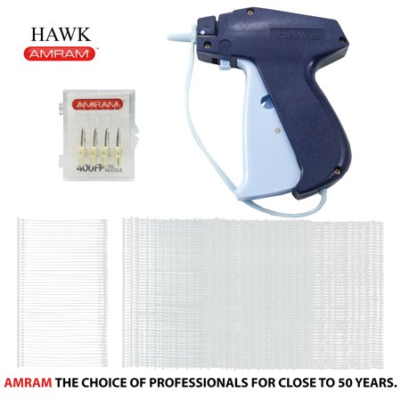 Amram Hawk Tagging Gun for Clothing with 1250 Pieces of 2 Inch Attachments and 5 Needles; Fine Tagging Applications amram hawk fine tag attaching tagging gun bonus kit with 5 needles and 1250 2  fine attachments
