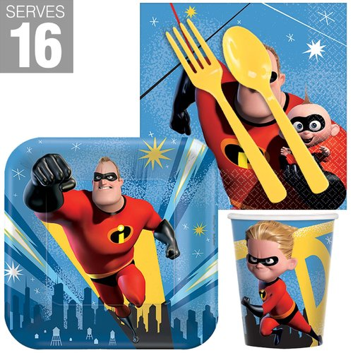 NA 80 Piece The Incredibles Snack Paper Disposable Party Supplies Set
