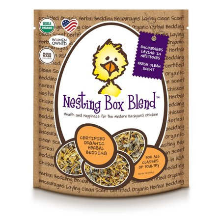 Treats For Chickens Organic Nesting Box Blend - Herbal Bedding for Coop/Nesting Boxes