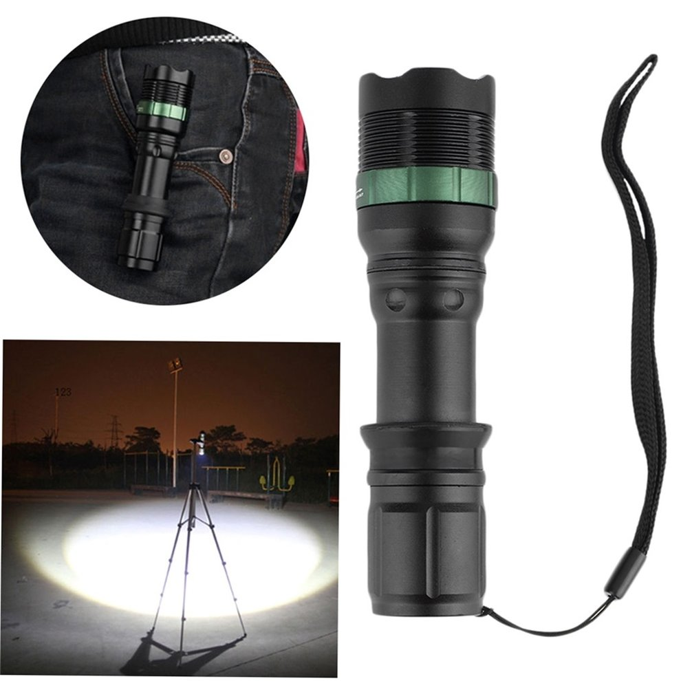 High Power 2200 Lumen Zoomable Focus XM-L T6 LED Flashlight Torch Lamp