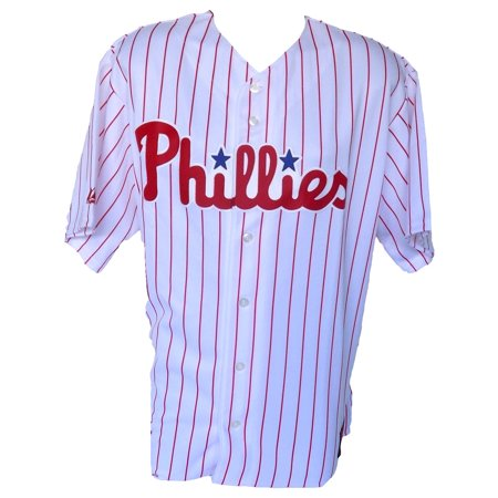 Philadelphia Phillies Majestic Replica Pinstripe Jersey Size 2Xl