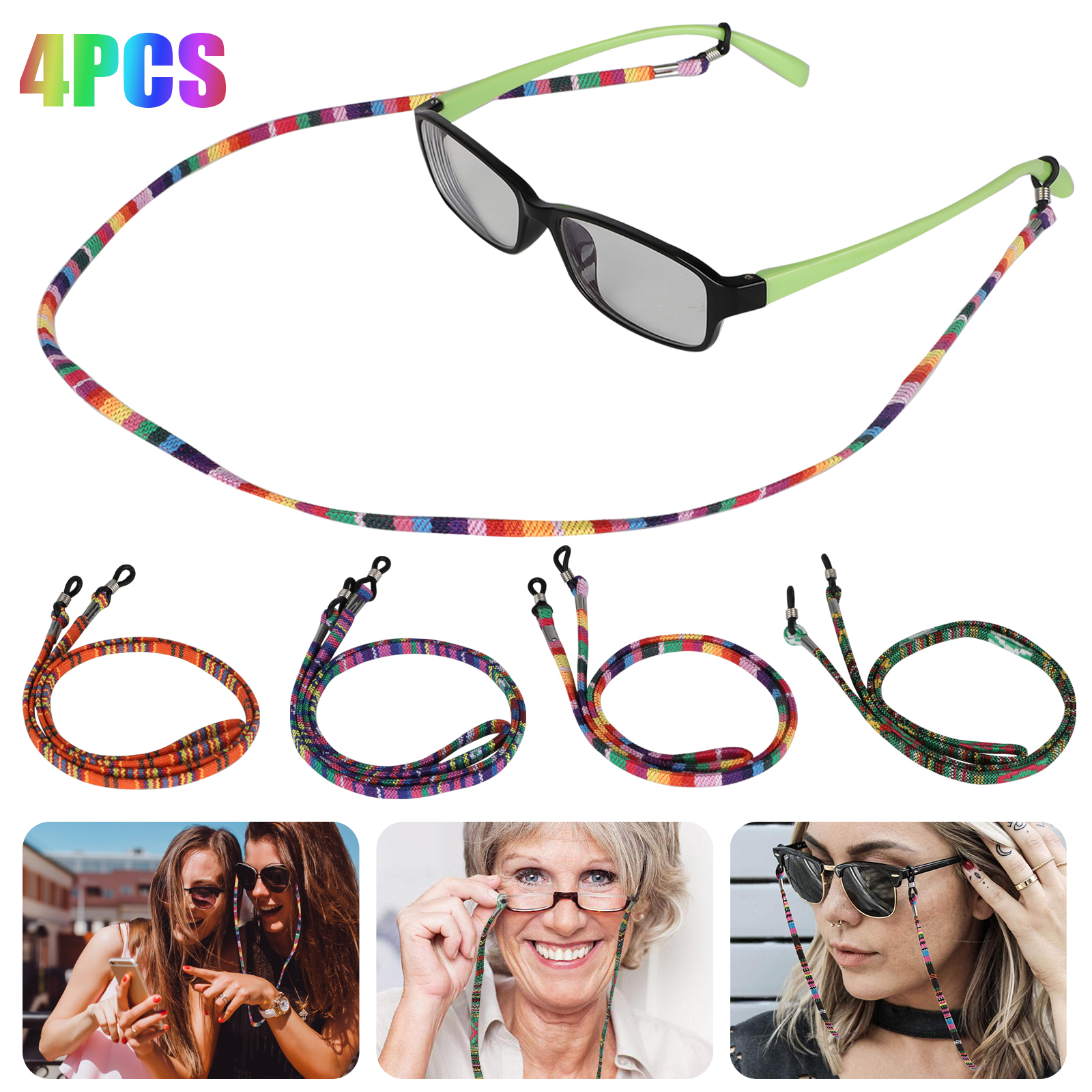 accessories for men women eyeglasses necklace for glasses eyeglass chain plastic blue and yellow