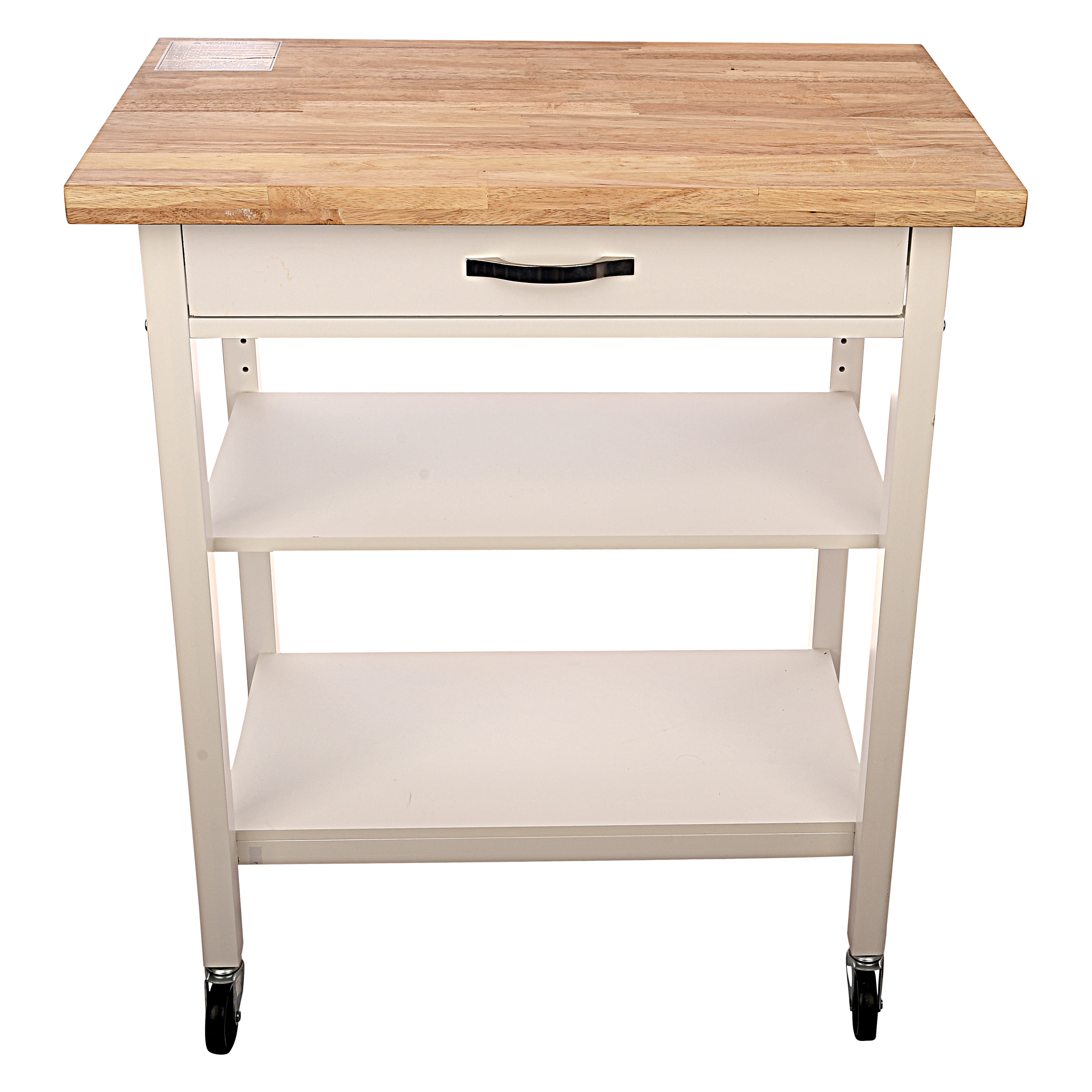 Mainstays Kitchen Island Cart, White