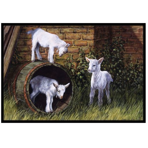 Goats by Daphne Baxter Doormat by Caroline's Treasures