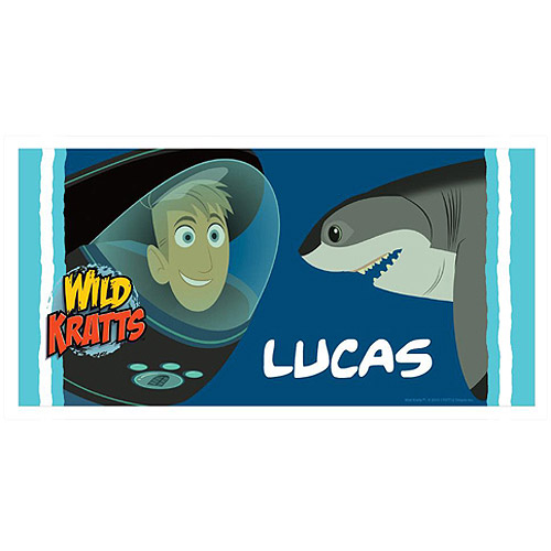 Personalized Wild Kratts Underwater Adventure Beach Towel