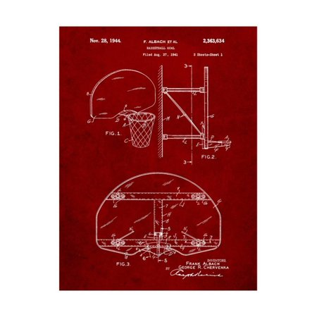 Basketball Goal Patent Print Wall Art By Cole Borders