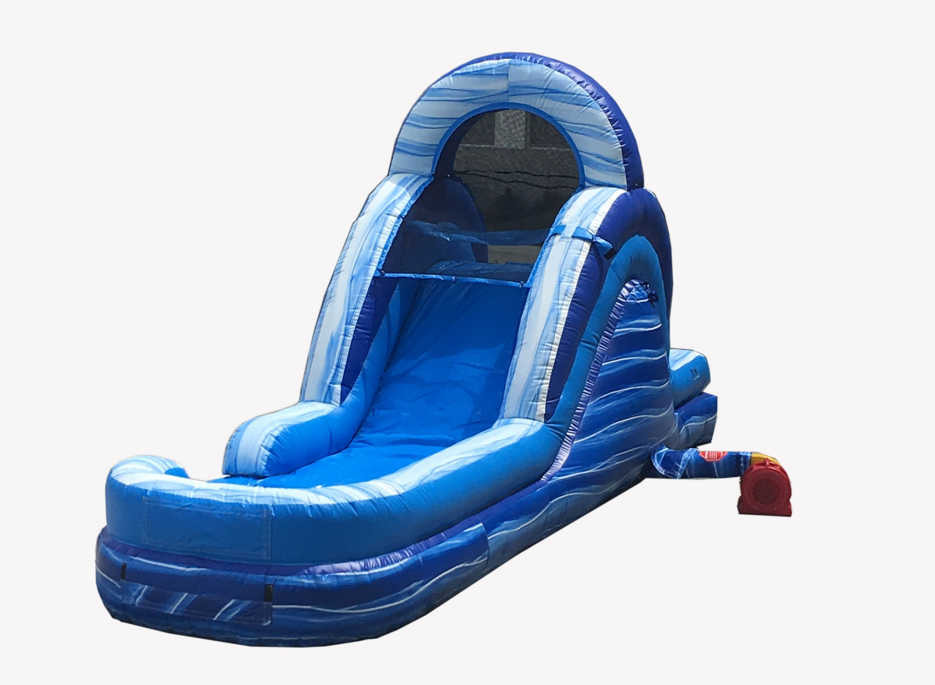 Click here to buy Pogo 12' Blue Marble Commercial Inflatable Waterslide with Blower Kids Bouncy Jumper by Pogo Bounce House.