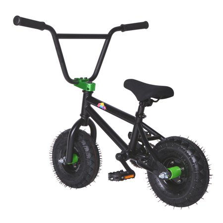 "KOBE Mini BMX Trick Bike - Off-Road to Skate Park, Freestyle, Trick, Stunt Bicycle 10"" Wheels for Adults and Kids - Green - image 3 de 12"