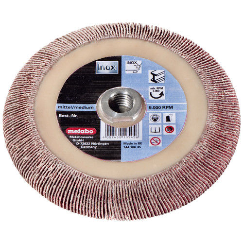 Metabo 626486000 5 in. x 5/8-11 in. Ceramic P40 Flexiamant Super Offset Flap Disc