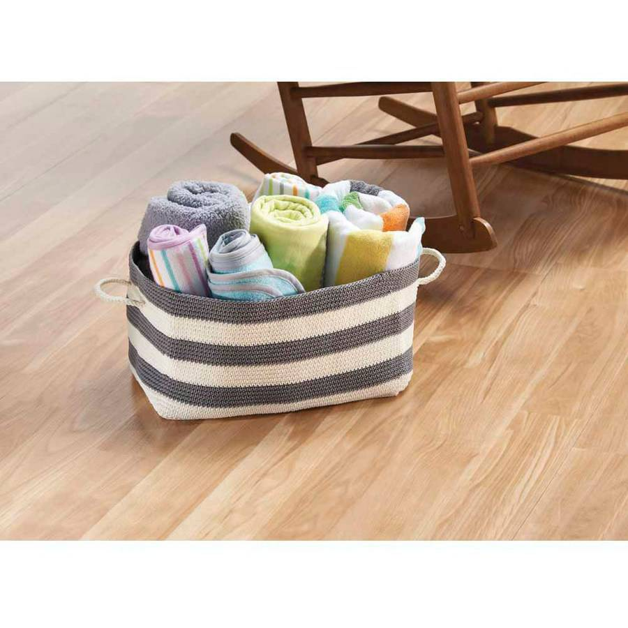 InterDesign Hand Knit Large Rectangle Bin with Handles