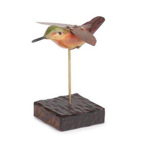 Big Sky Carvers Hummingbird Wood And Metal Sculpture Figurine Dean Crouser New