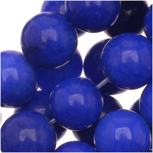 Lapis Blue Candy Jade 8mm Round Beads / 15.5 Inch Strand