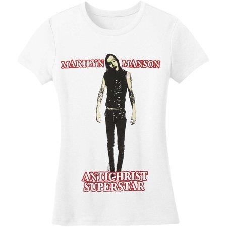Marilyn Manson  Antichrist Junior Top White (Marilyn Manson Halloween Cover)