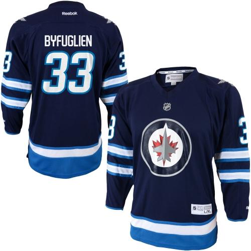 Dustin Byfuglien Winnipeg Jets Reebok Youth Replica Player Hockey Jersey Navy Blue L XL by Outerstuff