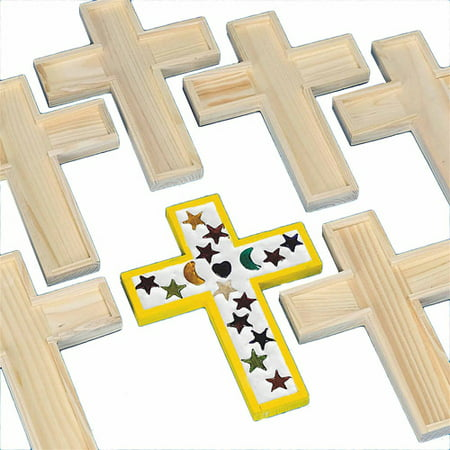 Sonoma Trivet - Unfinished Wooden Cross Tile Trivet, Pack of 6
