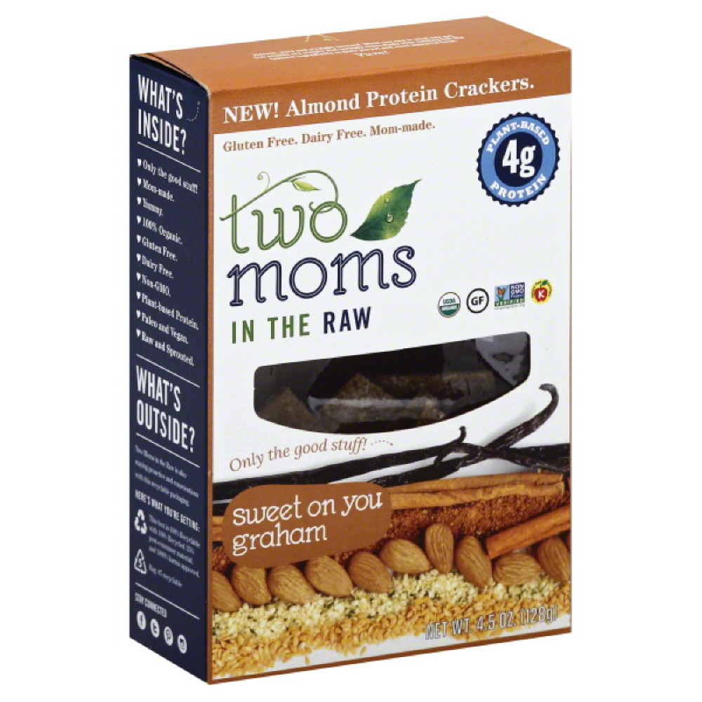 Image of 2 MOMS IN THE RAW CRACKERS SWEET ONION, 4.5 OZ (Pack of 6)
