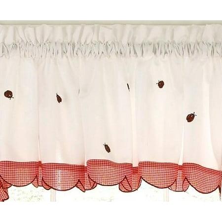 Ladybug Meadow valance (Ladybug Valance)