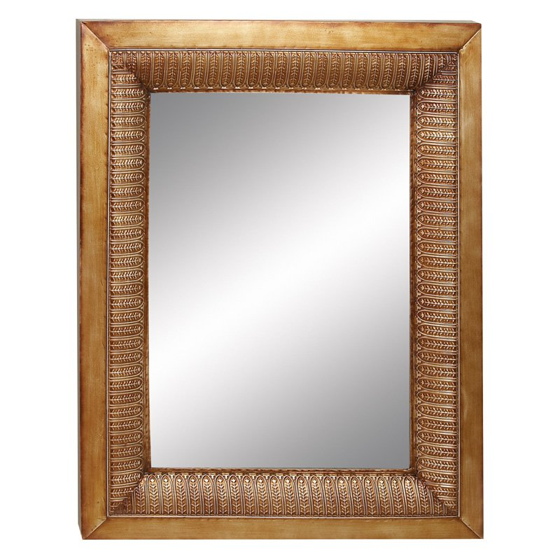 Aspire Home Accents Embossed Leaf Mirror - 30W x 38H in.