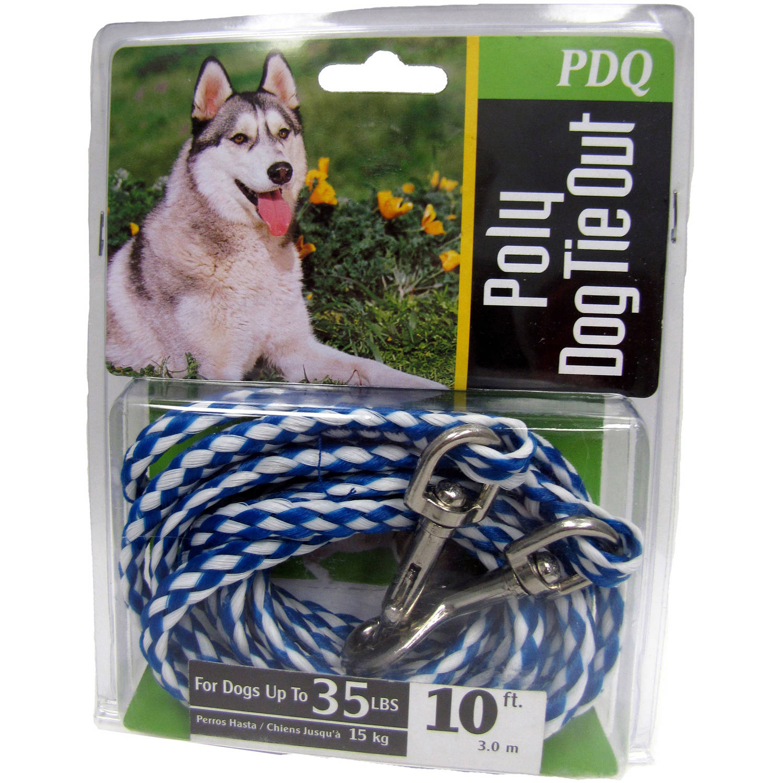 Boss Pet Q2410 000 99 10' Medium Dog PDQ Rope Tie-Out