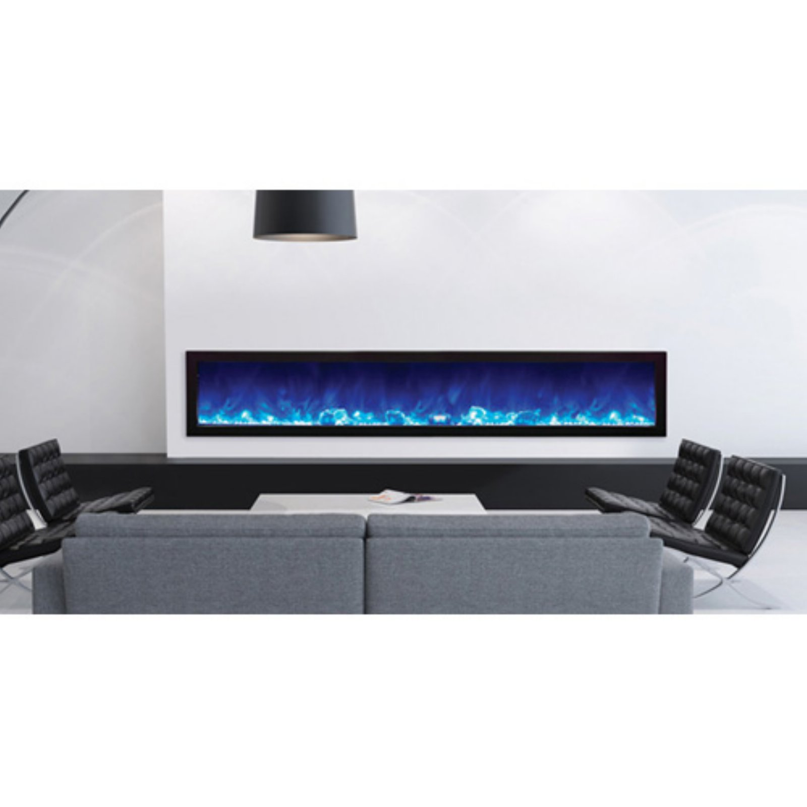 Amantii Panorama Slim Electric Wall Mount Fireplace with Black Surround by Amantii