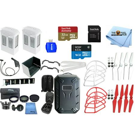 DJI Phantom 4 Intelligent Flight Batteries 2x with Hardshell Backpack and Accessories for DJI Phantom 4