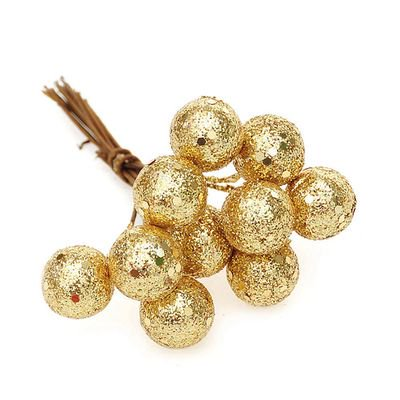 KABOER 2pcs Christmas Gold and Silver Christmas Tree Fruit Ornaments Fruit Ball Party Decorations Christmas Home Decorations New Year ()
