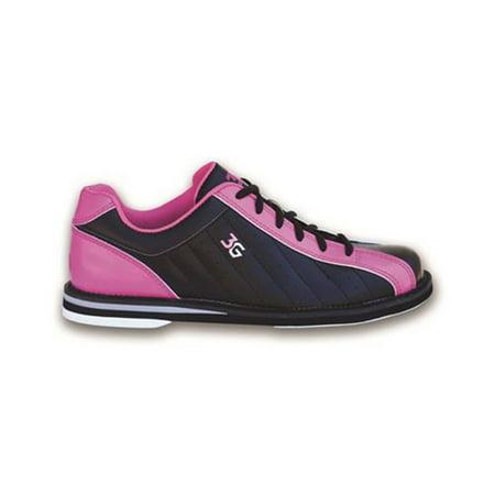 3G Ladies Kicks Bowling Shoes- Black/Pink 6 1/2 M US ()