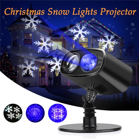 TMISHION LED Projector Light, Rotating Snowflakes Waterproof Landscape Lamp, Indoor and Outdoor Decoration for Halloween, Christmas, Garden, Holiday, Party, Birthday, - Halloween Light Show Party Anthem