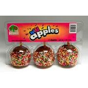 Caramel Apple W/sprinkles, 3 ct