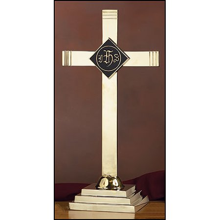 Ihs Cross - altar cross with ihs emblem