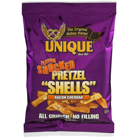 Cheddar Pretzel - Unique Flavor Shocked Bacon Cheddar Pretzel Shells, 5.5 oz, 24 count