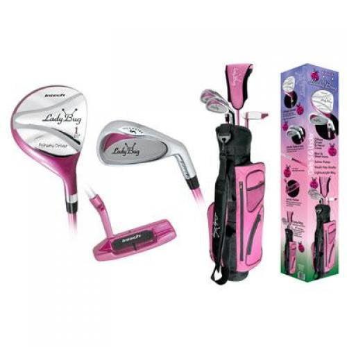 Intech Girl's Lady Bug 6-Piece Junior Golf Club Set, Right-Handed